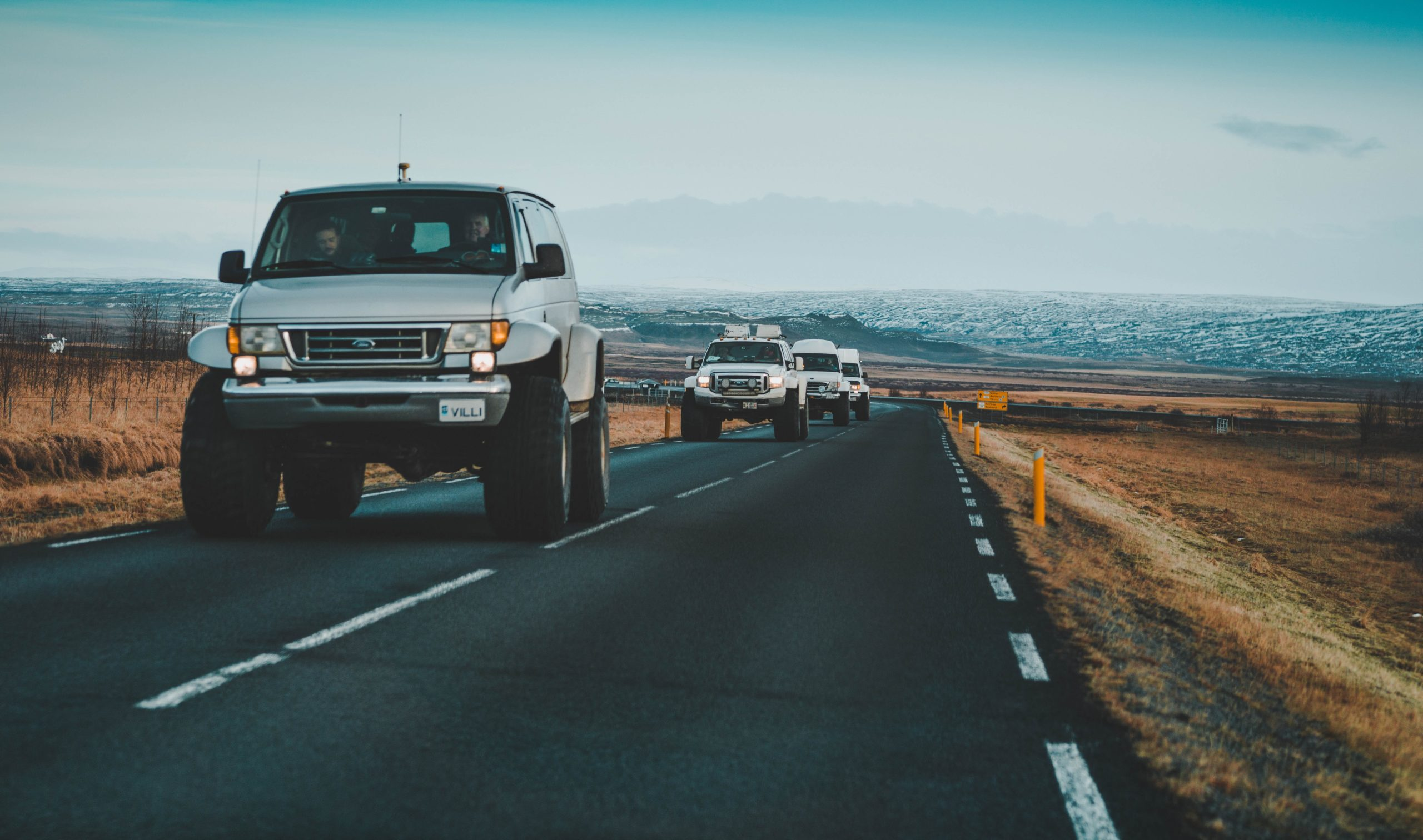 IJsland stoere autos