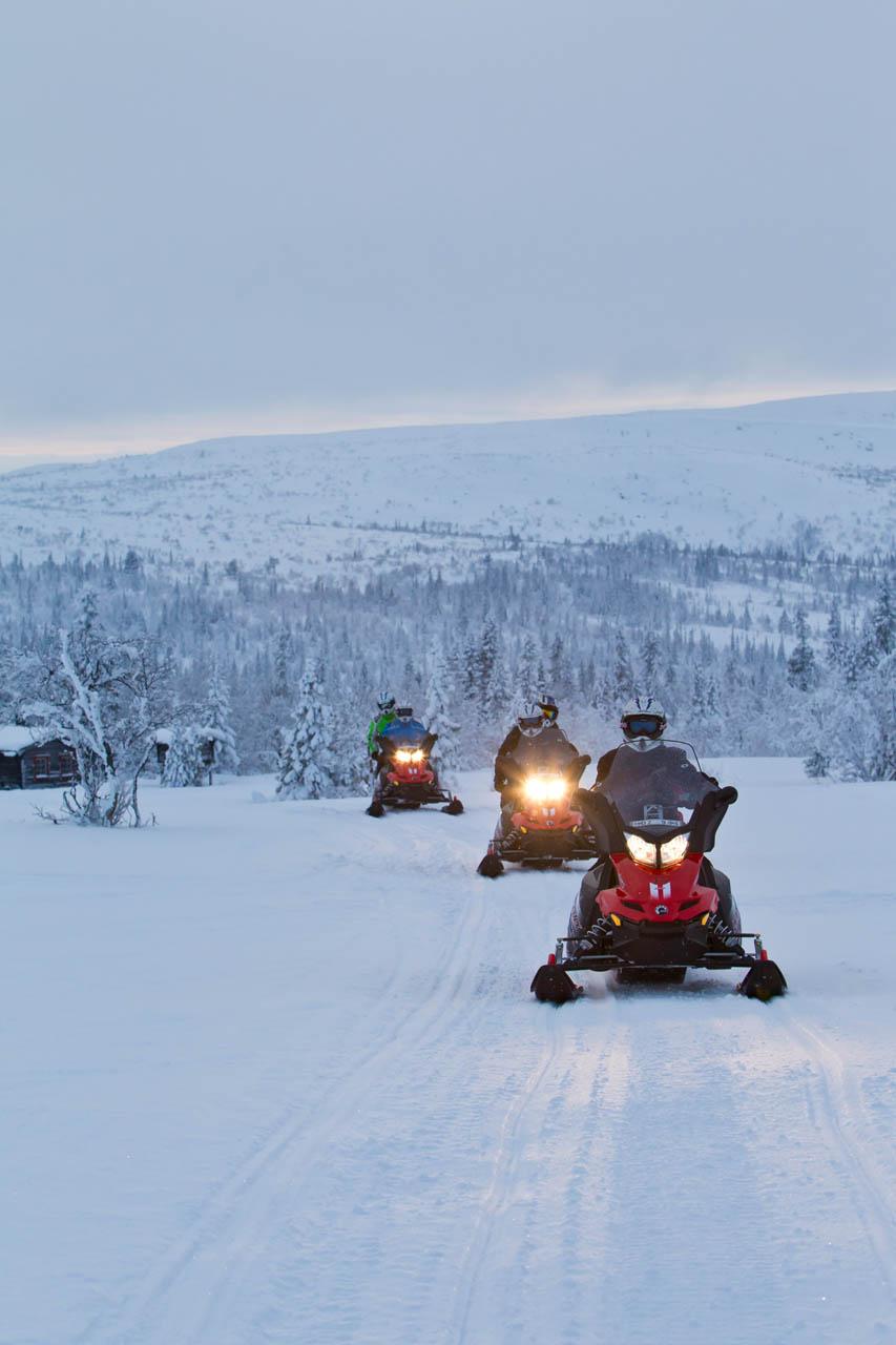 Lapland sneeuwmobiel