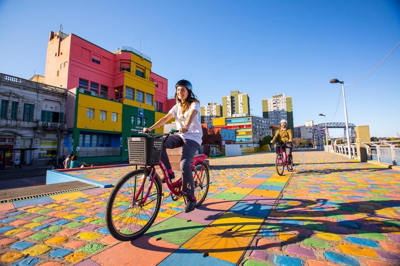 fietsen La Boca Buenos Aires-